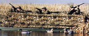Duck Hunters in the boat blind